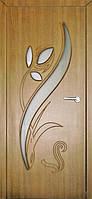 Межкомнатные двери Неман модель Тюльпан ПО дуб золотой