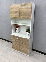 Шкаф белый и дуб санома