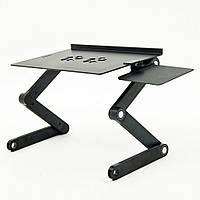Столик трансформер для ноутбука, в ліжко, для подорожей, для малювання Laptop Table T8, фото 1