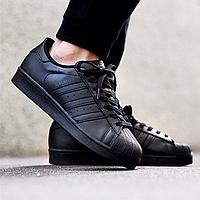 Кроссовки мужские кеды Adidas Superstar черные