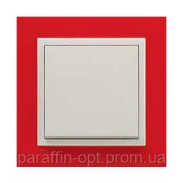 Рамка одинарная СЕРИЯ ANIMATO LOGUS красный металлик ледяной, фото 2