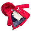 Зимний комбинезон для девочки от производителя  22-28 красный, фото 3