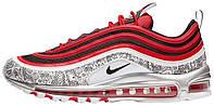 Мужские кроссовки Jayson Tatum x Nike Air Max 97 Saint Louis Roots (найк аир макс 97, красные/серые)