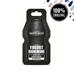 Глиняная маска с йогуртом и углем SKIN'S BONI Yogurt Bonimini Wash Off Mud Pack Charcoal, 15 мл