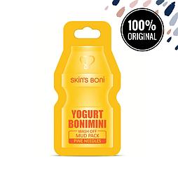 Глиняная маска с йогуртом и экстрактом сосновых иголок SKIN'S BONI Yogurt Bonimini Wash Off Mud Pack Pine