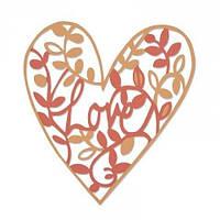 Нож для вырубки Sizzix Thinlits Die - Natural Love, 661377, фото 1