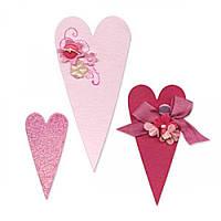 Нож для высечки Sizzix Bigz Die - Hearts, Primitive, 656335, фото 1