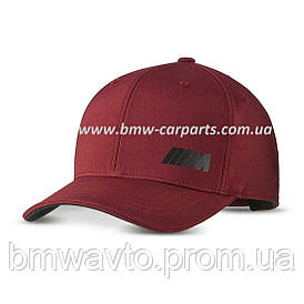 Бейсболка унисекс BMW M Logo Cap, Burgundy 2019