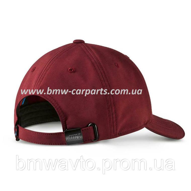 Бейсболка унисекс BMW M Logo Cap, Burgundy 2019, фото 2