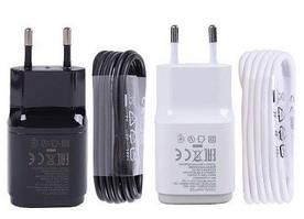 Сетевое зарядное устройство зарядка LG (Q) 2 в 1 Micro USB оригинал для