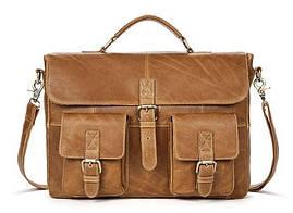 Сумка деловая мужская под ноутбук Vintage 14753 Светло-коричневая, Коричневый