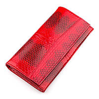 Кошелек женский SEA SNAKE LEATHER 18278 из натуральной кожи морской змеи Красный, Красный