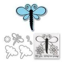 Ножи + штампы Sizzix 5PKs - Dragonflies 657579