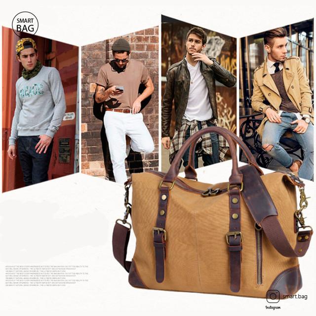Мужской винтажный брезентовый портфель S.c.cotton