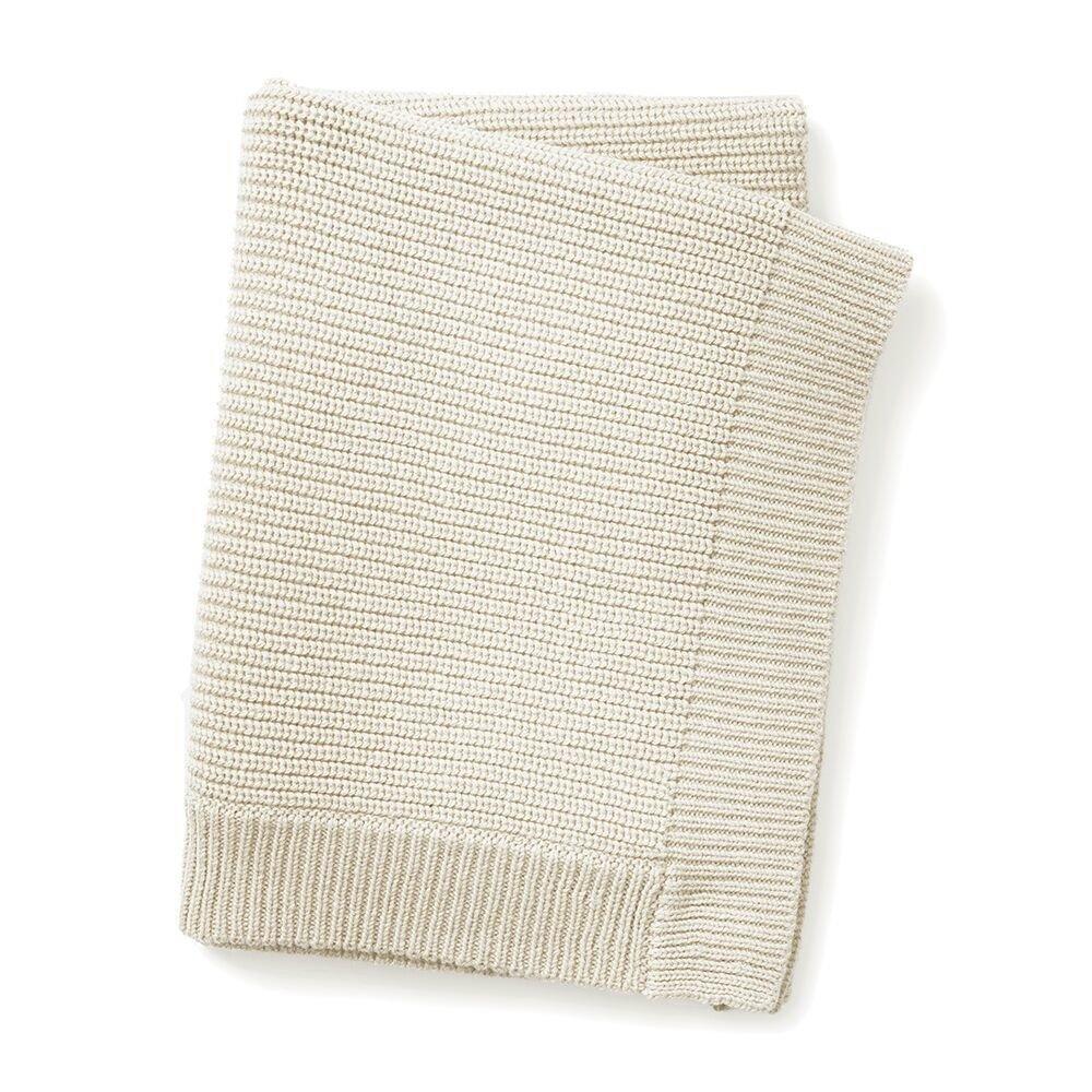 Elodie Details - Шерстяное вязаное одеяло, цвет Vanilla White