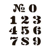 Ножи Sizzix Die Set 11PK - Cargo Stencil Number Set 657841