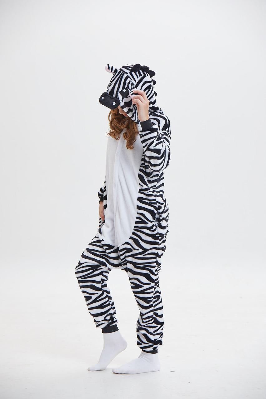 Пижама кигуруми Взрослые и Детские Зебра