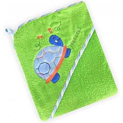 Полотенце для купания. Уголок baby mix 100×100 см