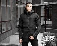 """Теплая мужская демисезонная короткая куртка """"Райс"""" черного цвета"""