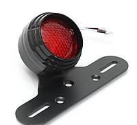 Мото стоп сигнал HRE2 LED, 12 В з кріпленням для номеру, кастом, бобер, каферейсери