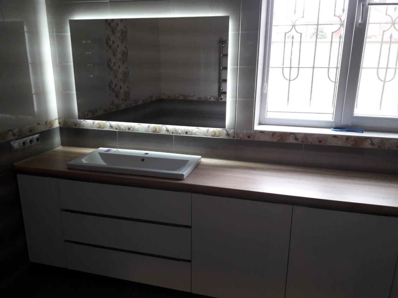 Мебель для ванной на заказ Днепр.