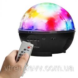 Диско-шар на аккумуляторе Charging crystal magic ball stage light RJL-608