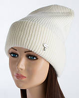 Белая шапочка с отворотом Гермиона