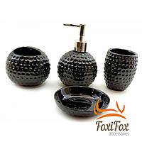 Набор аксессуаров для ванной 4 предмета Black