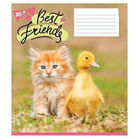 А5/36 лин. YES BEST FRIENDS, тетрадь для записей