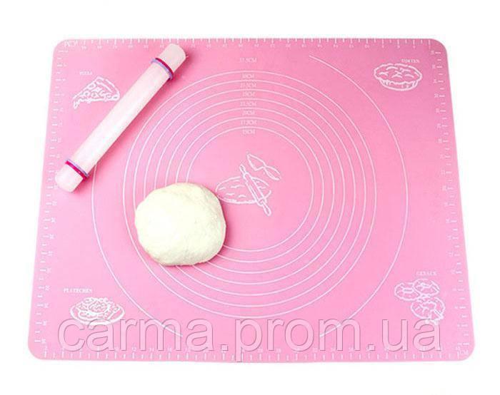 Коврик для теста Frico FRU-083 50*70см Pink