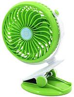 Вентилятор TV MINI Fan Clip ML-F168 на прищепке Green, фото 1