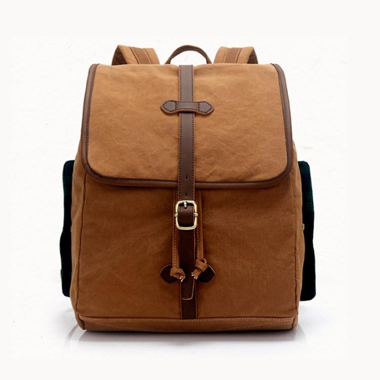 Винтажный молодежный городской рюкзак S.c.cotton Коричневый
