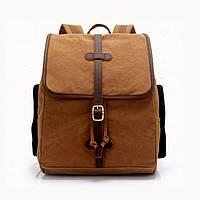 Винтажный молодежный городской рюкзак S.c.cotton Коричневый, фото 1
