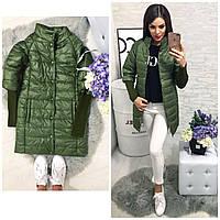 Куртка Давяз, модель 205/2 удлинённая, цвет -хаки, 42