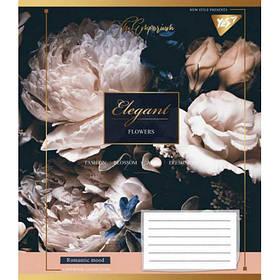 А5/48 кл. YES ELEGANT FLOWERS, тетрадь для записей