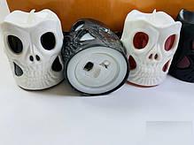 Фонарик Свеча двухсторонняя Череп на Хэллоуин, 6 см, фото 2