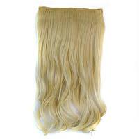 Искусственные волосы на заколках волнистые. Цвет #613 Блонд