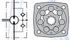 Гидромотор MSV 315 см3 M+S Hydraulic, фото 2