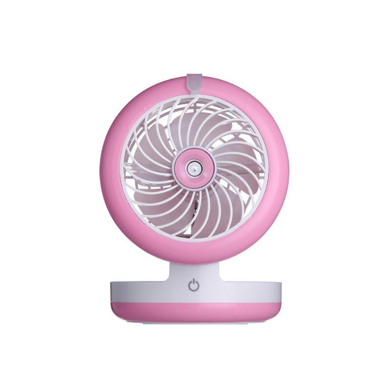 Мини вентилятор с увлажнителем и встроенным павербанком