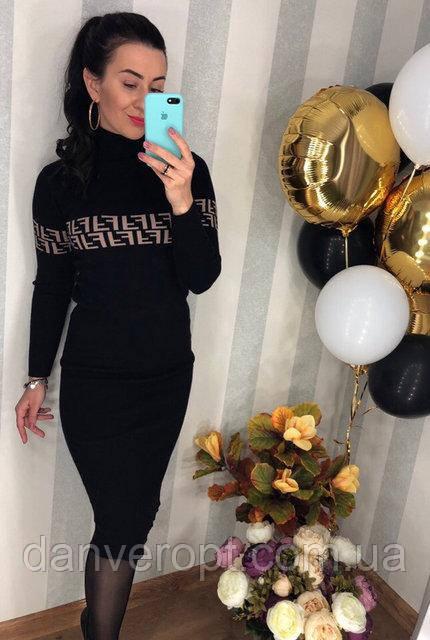Платье женское молодёжное FENDI размер универсальный 42-46 купить оптом со склада 7км Одесса