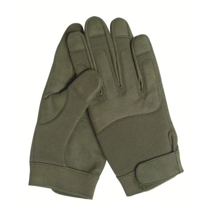 Перчатки, искусственная кожа/эластан MilTec Olive 12521001 M