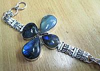 """Яркий браслет с лабрадором """"Клеверный""""от студии  www.LadyStyle.Biz, фото 1"""