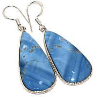 """Серебряные серьги  с  голубым опалом """"Капля""""   , от студии  LadyStyle.Biz, фото 1"""