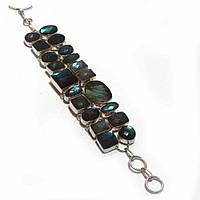 Шикарный браслет- манжет  с лабрадором от студии  www.LadyStyle.Biz, фото 1