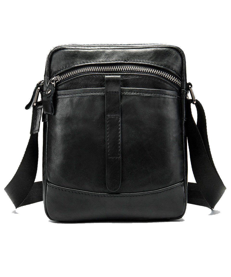 Компактна Сумка чоловіча Vintage 14652 Чорна, Чорний