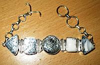 """Элегантный браслет с дендроопалом """"Геометрия"""" от студии LadyStyle.Biz, фото 1"""