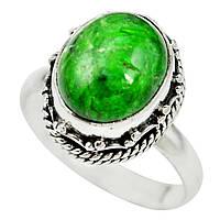 Серебряное кольцо с   хромдиопсидом, размер 18.6  от студии LadyStyle.Biz, фото 1