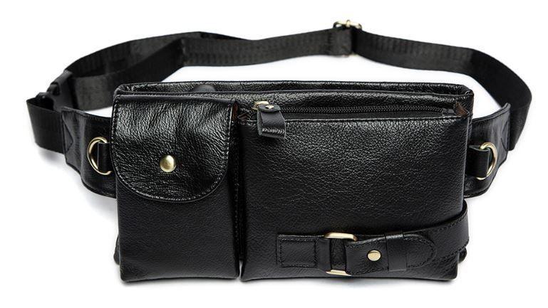 Сумка на пояс Vintage 14734 Черная, Черный