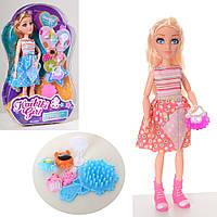Лялька BLD212 шарнірна, гребінець, сумочка, фігурки, 2 вида, бліст., 31-20-6 см.