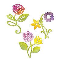Ножи Sizzix Set 3PK - Sunrise Blossoms Flower Set 658070, фото 1